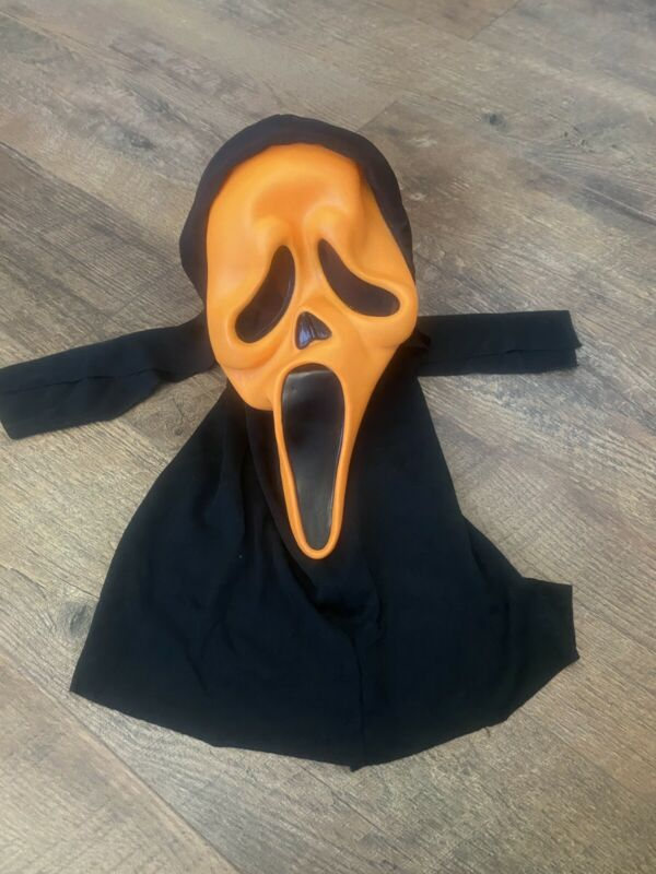 Easter Unlimited Rare Orange Scream Ghost Face Mask