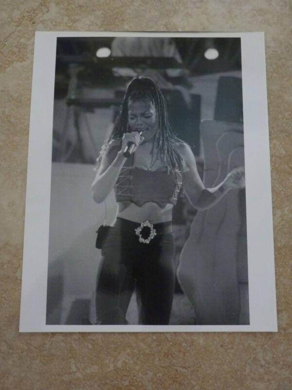 Janet Jackson Live 90's 8x10 B&W Publicity Picture Promo Photo #2