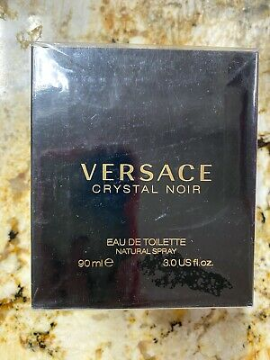 Versace Crystal Noir For Women Edt Spray 3.0oz 90ml * New * + 4 Versace Bonus
