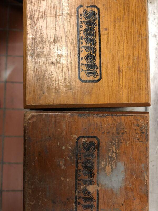 2 STARRETT NO. 192 VIBROMETER IN WOODEN BOXES! MEASURE AMPLITUDE OF VIBRATION!