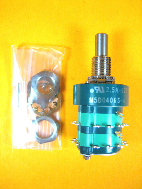 Electroswitch -  M5D0406S-A -  Switch Rotary Selector 4 Pole 6 Pos