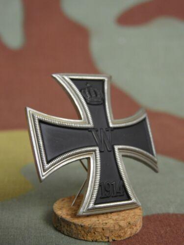 Iron Cross first cl 1914 German silver, Convex German WW1 Iron Cross 1st Class