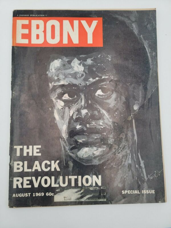 EBONY MAGAZINE THE BLACK REVOLUTION AUGUST 1974 VINTAGE COLLECTIBLE