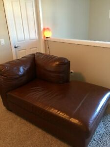Quality Leather Chaise