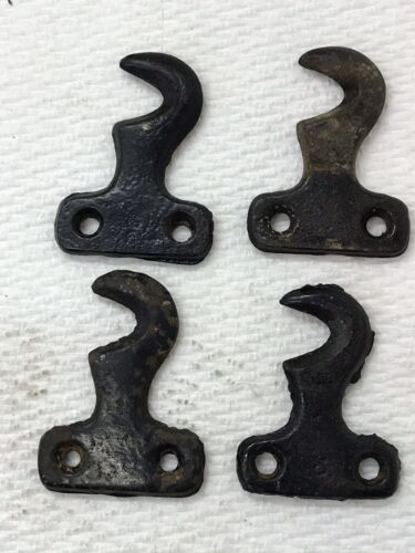 Photo Original Singer Sewing Machine Treadle Cabinet Drawer Cast Hook Set (Set of 4)