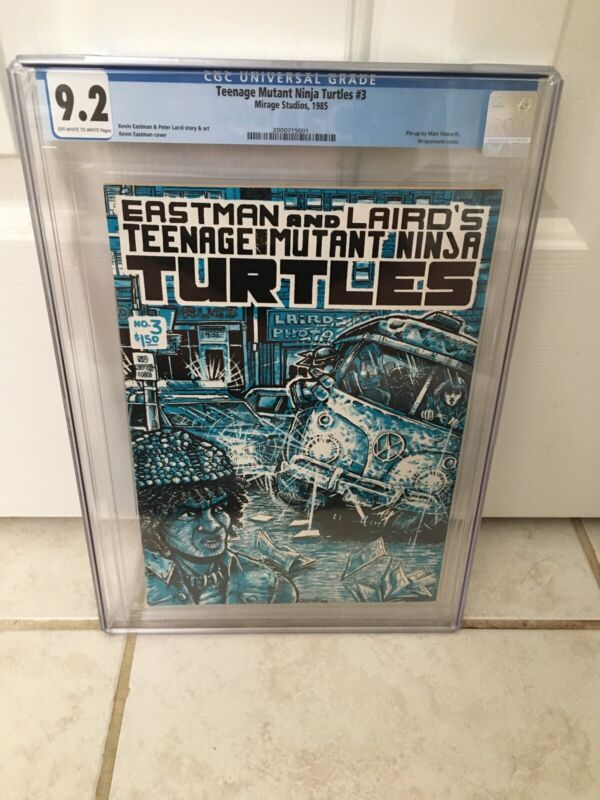 Teenage Mutant Ninja Turtles #3 1985 Mirage Studios TMNT CGC 9.2 OW/W 1st Print