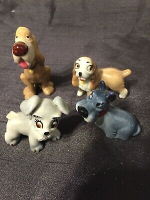 4 X Vintage Wade Whimsie Disney Dogs Lady & Tramp etc  for sale  Shipping to Ireland