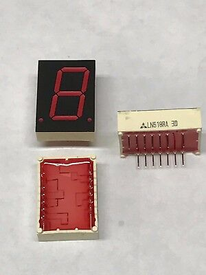 National Ln518ra Led Display 1-digit Red 0.8 7-segment Common Anode Dip-16