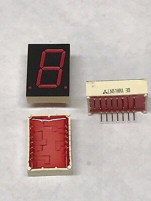 50x National Ln518ra Led Display 1-digit Red 0.8 7-segment Common Anode Dip-16