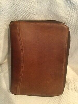 Genuine Leather Franklin Coveyquest Planner Binder Snap Usa 10x 8 Vguc