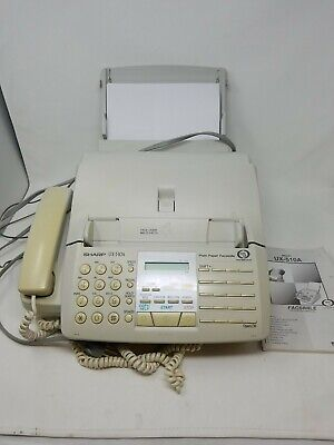 Sharp Ux-510a Fax Phone Copier Machinemanual Tested