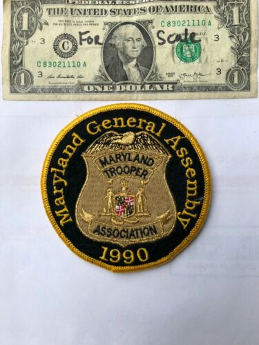 Maryland General Assembly Police Patch (Md.Trooper Association) un-sewn Great