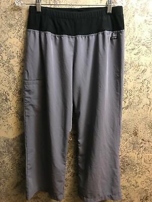 JOCKEY capri yoga scrubs pants nurse medical dental stretch gray M 2358-1054-M Capri Nursing Pants