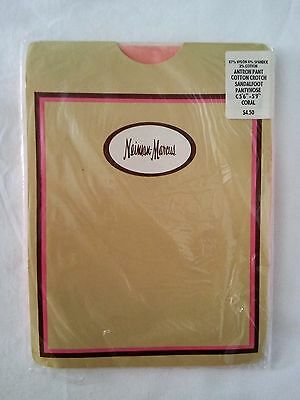 Vtg NEW Neiman Marcus Womens Nylons Pantyhose Size C Coral