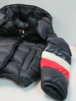 Moncler Willm Hooded Quilted-Down Jacket with Striped Detail Size: Small 1 WE48