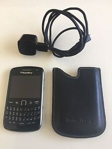 Blackberry Curve 9360 w/ 2GB Memory Card, Charger, Leather Case