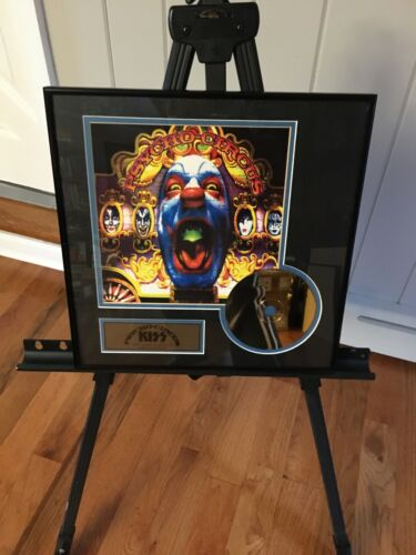 1998 KISS PSYCHO CIRCUS FRAMED 24kt GOLD PLATED CD (PROTOTYPE)