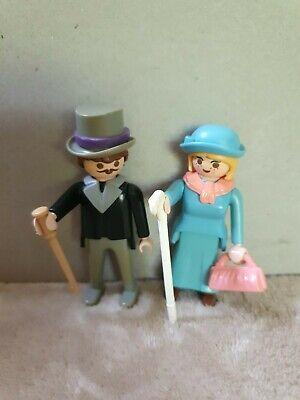 Playmobil Victorian Mansion 5300 Couple Lady & Gentleman Woman Man Vintage 80s