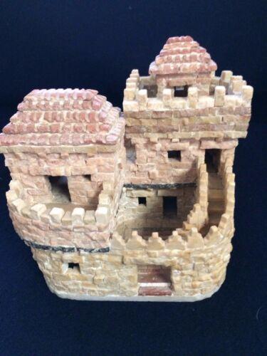 Collectors Item Hand Made Original stones Of hills Of Jerusalem Carved House
