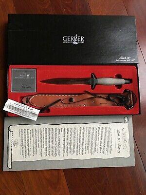 Vintage Gerber Mark II~ 20th Anniversary~ Original Box, Sheath, Papers~ Pristine
