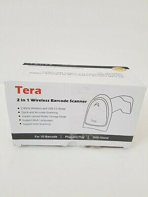 Tera Barcode 2 In 1 Scanner 1d Wo Stand 32bit Cpu Usb 2.0 2.4 Ghz Wireless