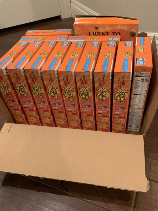 Limited Travis Scott X Reeses Puffs Cereal - Regular Sized - SOLD OUT RARE!