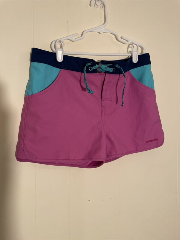 PATAGONIA Youth Girls XL (14) Purple Nylon BAGGIES SHORTS