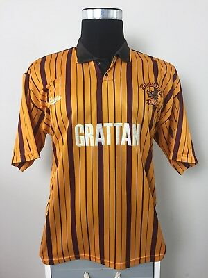 Bradford City Home Football Shirt Jersey 1990/91 (M) image