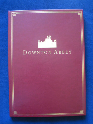DOWNTON ABBEY Film SCRIPT - SIGNED by MAGGIE SMITH & FILM CAST - FULL LEATHER