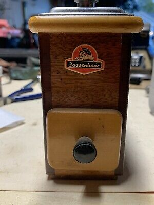 Vintage Zassenhaus Manual Wood Coffee Grinder