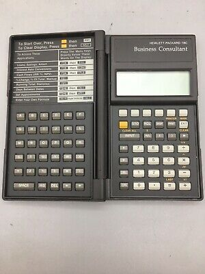 Hp 18c Business Consultant Financial Calculator - Fast Ship - D27