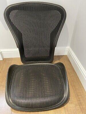 Herman Miller Aeron Chair Size B Black Seat & Back Mesh Set