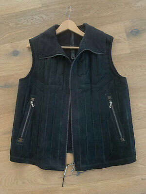 Isaac Sellam Experience Leather Vest with Pump System size  XL in black