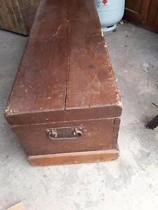 Wooden shipping chest Port Fairy Moyne Area Preview