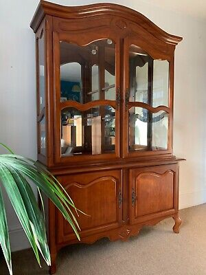 French Style Glazed Armoire Or Linen Cabinet, Drinks Cabinet