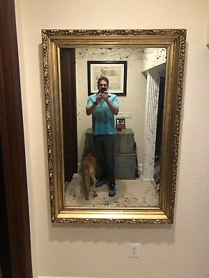 """Large antique period gilt carved Wood Frame With New Mirror 37.5x56"""" Circa 1800 for sale  Shipping to Canada"""