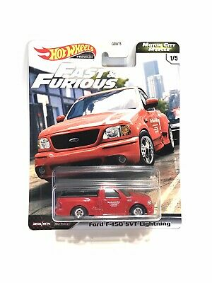 Hot Wheels Premium Fast & Furious Motor City Muscle Ford F-150 SVT Lightning Red