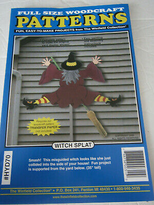 Easy Halloween Craft (Halloween Witch Splat Craft Woodworking Full Size Pattern Easy 35