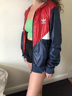 Ladies Size Small 38 Adidas Windbreaker Jacket