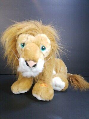 Animal Planet 2003 Plush Lion Stuffed Animal Toy Battery Operated Eyes Glow 13