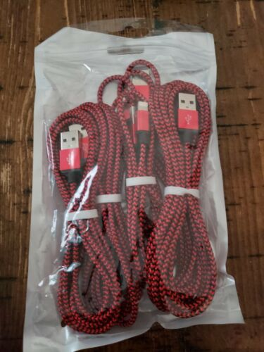 iPhone Charger Lightning 5 Pack USB Cable Cord Heavy Duty Br