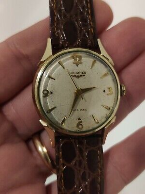 VINTAGE LONGINES AUTOMATIC 19AS CAL 17 JEWEL 33 MM WRIST WATCH WORKS
