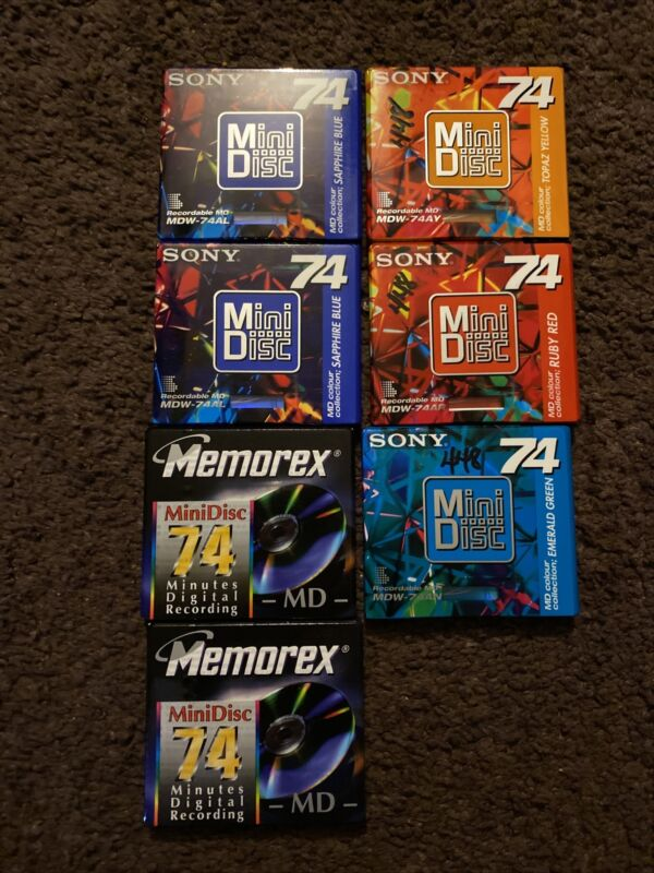 Lot of 7 Brand New Sealed Mini Discs