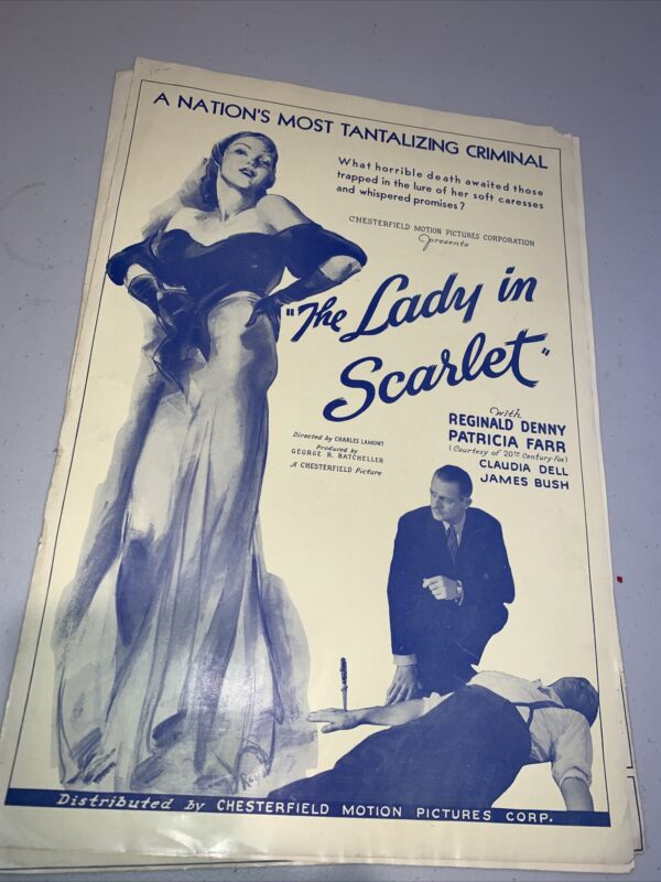 The Lady in Scarlet with Patricia Farr Movie Release Press Kit
