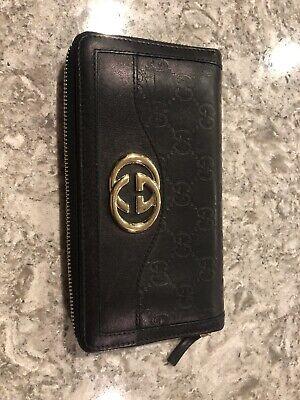 Authentic Gucci Guccissima Sukey Zip Around Wallet - Perfect Condition