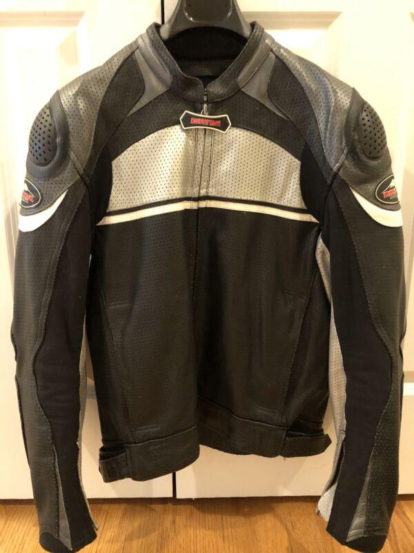Kushitani Perforated Leather Riding Jacket (Size L)