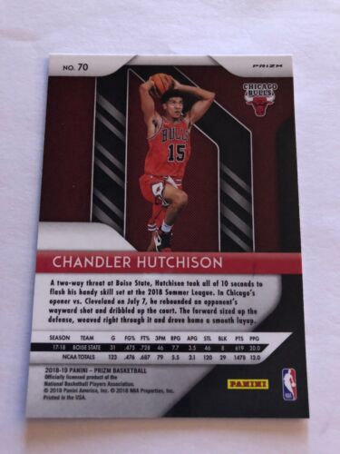 2018-19 Panini Prizm Chandler Hutchison RED WHITE AND BLUE PRIZM Rookie Card - $4.99