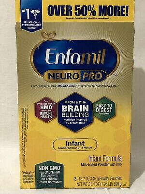 ENFAMIL NEURO PRO INFANT FORMULA 31.4 OZ TOT (2X 15.7OZ) POWDER POUCHES BB 2/21