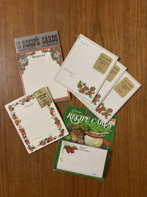 Vintage Blank Recipe Card Lot (67) ALL STRAWBERRY Strawberries UNUSED