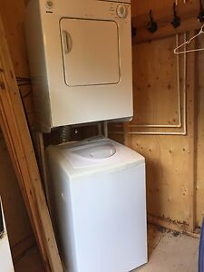 Apartment stackable washer and dryer